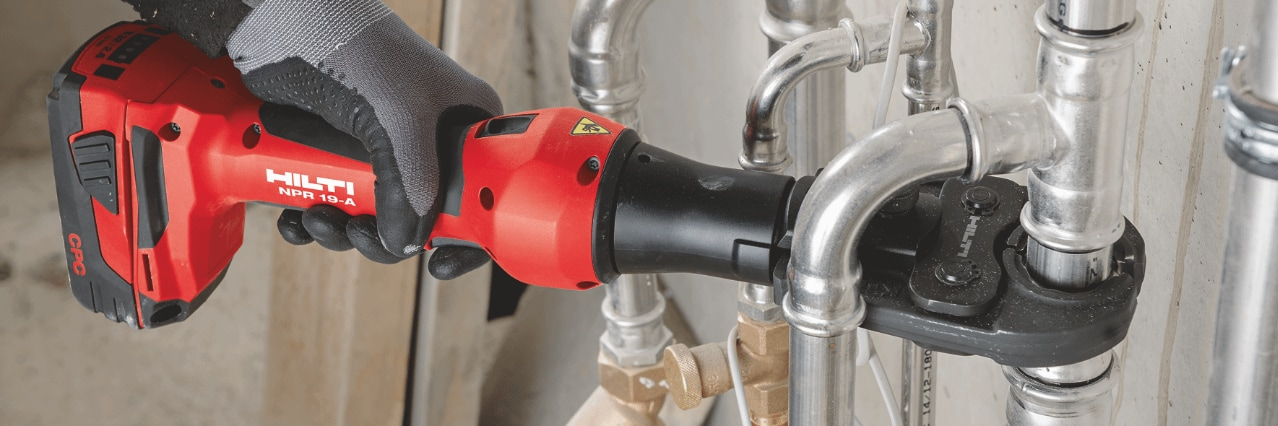NPR 19-A cordless pipe press tool