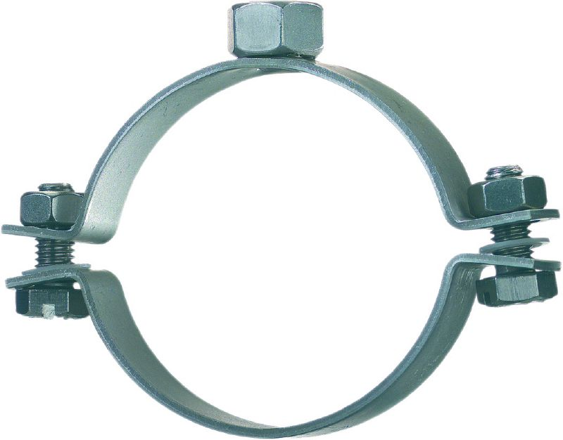 MP-SRN Standard stainless steel pipe clamp without sound inlay for light-duty applications